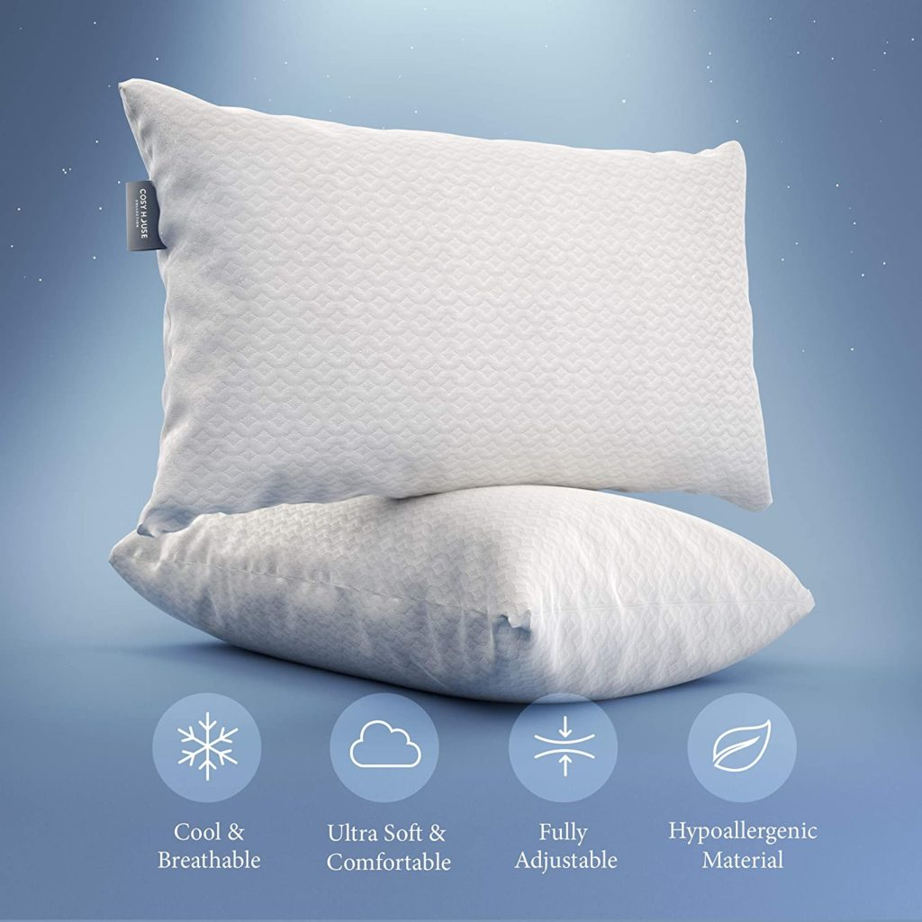 Cosy House Luxury Bamboo Pillow - Shredded Memory Foam 2